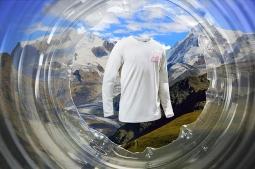 Monte Rosa massif, Gorner glacier dramatic sunrise, Swiss Alps